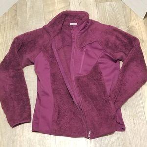 Columbia Fleece Maroon Medium Coat